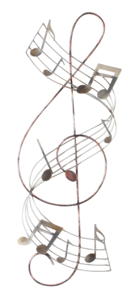 "Metalen wanddecoratie ""Treble Clef Grace"""