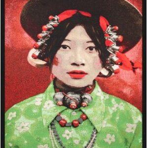 "Portrait Gobelin ""Tibetian Girl"" van Mondiart"
