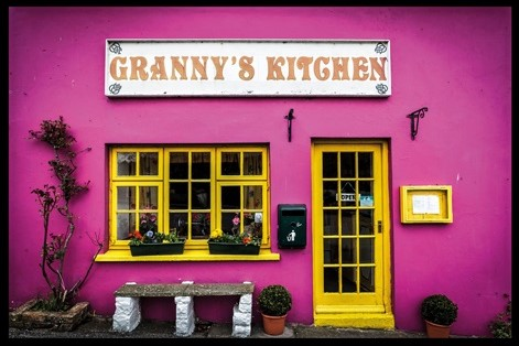 "Aluminium schilderij ""Granny's Kitchen' van MondiArt"