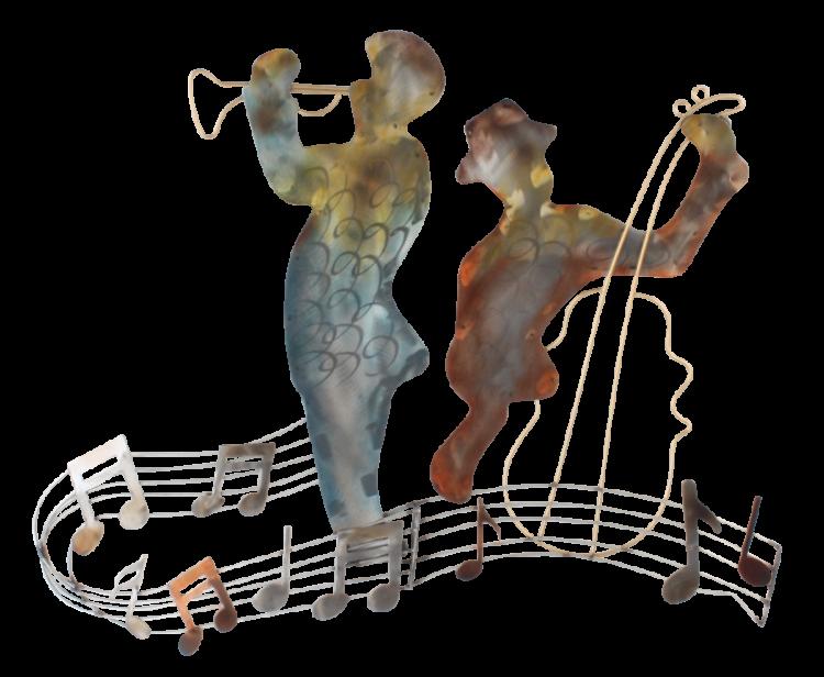 "Metalen wanddecoratie ""Music to the Ears"""