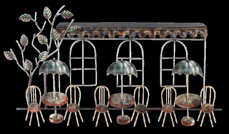 """Metalen wanddecoratie """"Restaurant Day"""""""