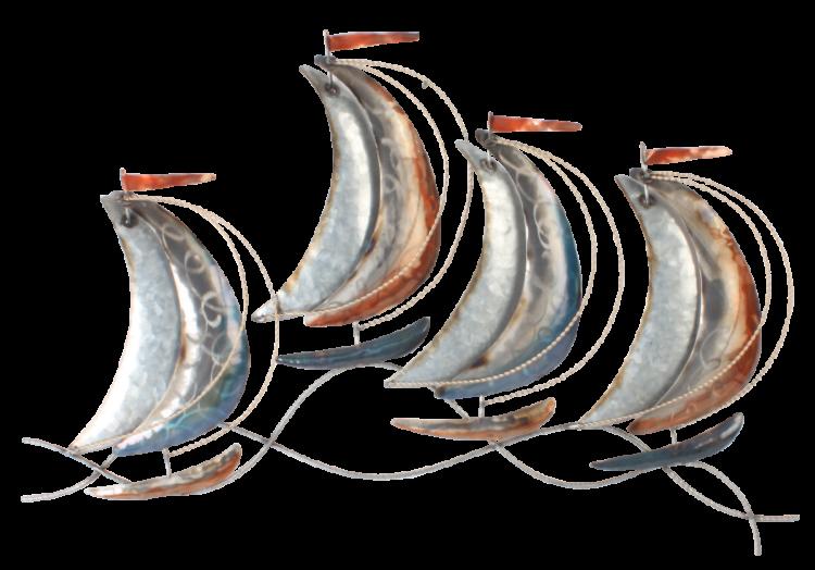 """Metalen wanddecoratie """"Sail Far Away"""""""
