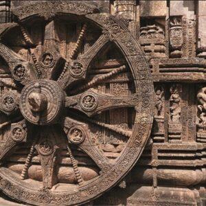 "Aluminium schilderij ""Suntemple Odisha"" van MondiArt"