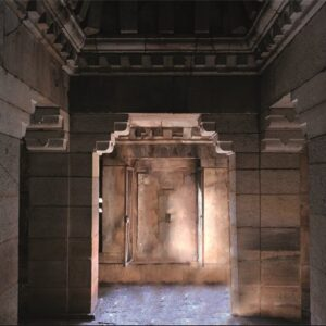 "Aluminium schilderij ""Temple Entrance"" van MondiArt"