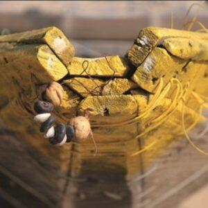 "Aluminium schilderij ""Yellow boat trip"" van MondiArt"