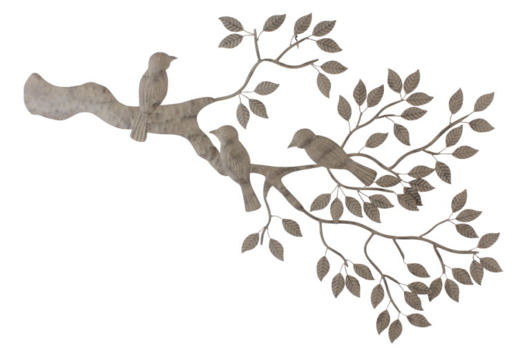 "Metalen wanddecoratie ""Bird Joy"""