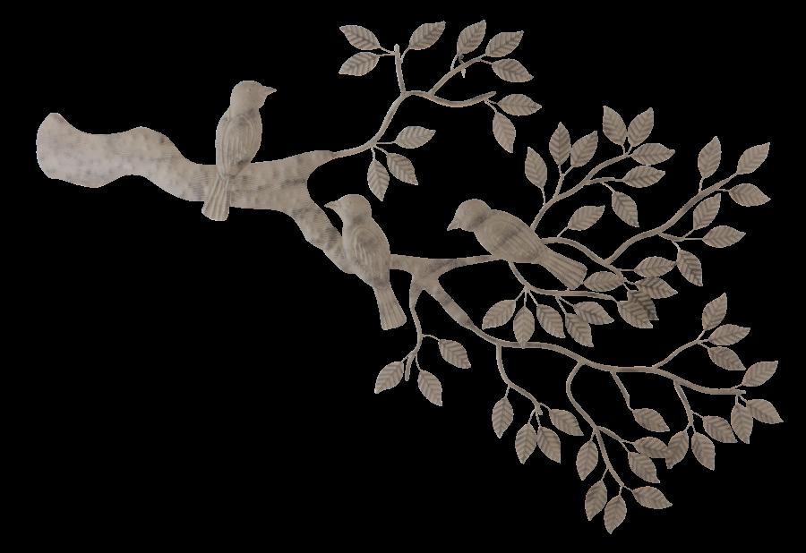Metalen wanddecoratie Bird Joy