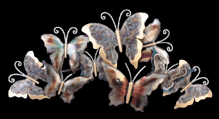 """Metalen wanddecoratie """"Butterflies in unison"""""""