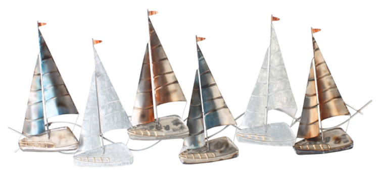 "Metalen wanddecoratie ""Sailboat Joy """