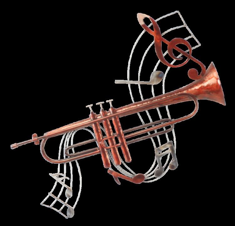 """Metalen wanddecoratie """"Trumpet Composition"""""""
