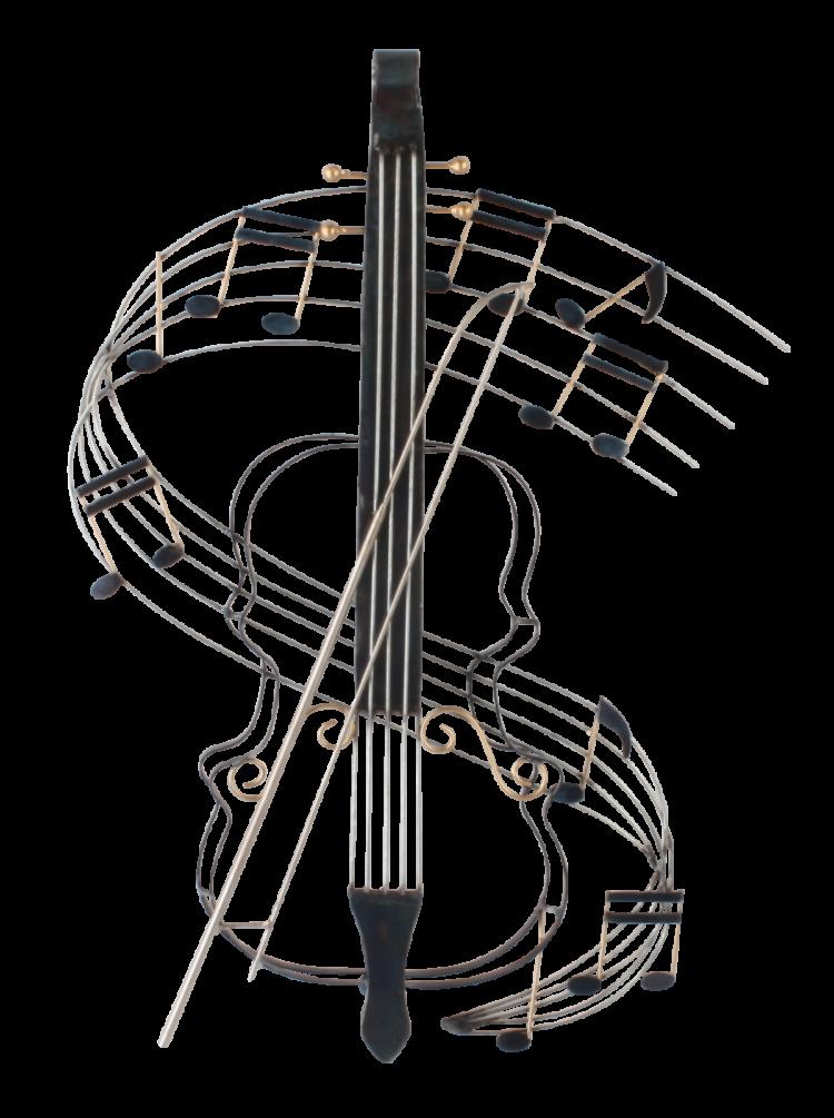 """Metalen wanddecoratie """"Violin's Melody"""""""