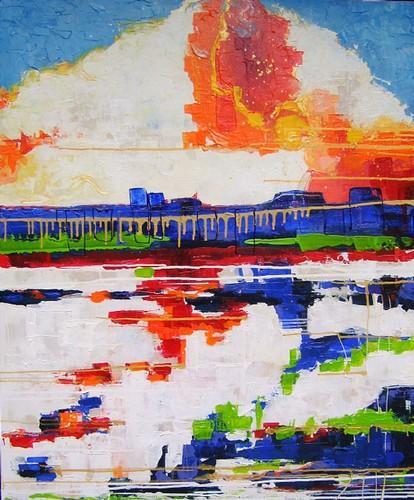"""Schilderij """"Tokio"""" van Anneke Swanink"""