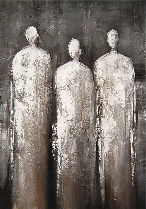 "Wandkleed ""3 statues"" van Mondiart"