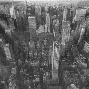 """Wandkleed """"Midtown Manhattan"""" van Mondiart"""