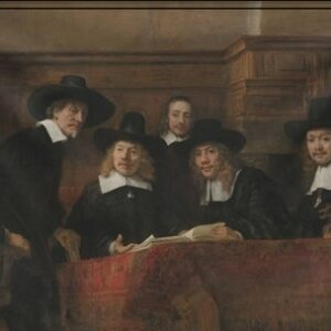 "Wandkleed ""Staalmeesters/Syndics 1662"" van Mondiart"