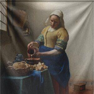 """Wandkleed """"The Milkmaid"""" van Mondiart"""