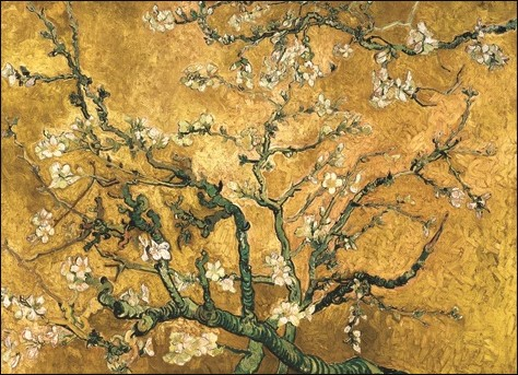 "Wandkleed ""Van Gogh Yellow Blossom"" van Mondiart"