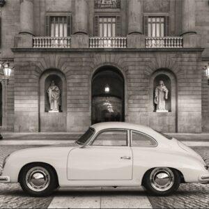 "Wandkleed ""Vintage sportscar"" van Mondiart"