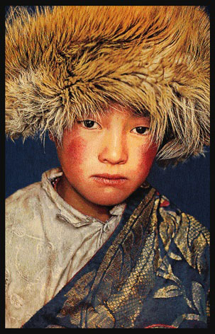 "Portrait Gobelin ""Tibetan Boy"" van Mondiart"