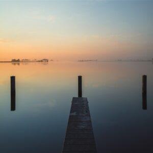 "Aluminium schilderij ""Morning sunrise"" van MondiArt"