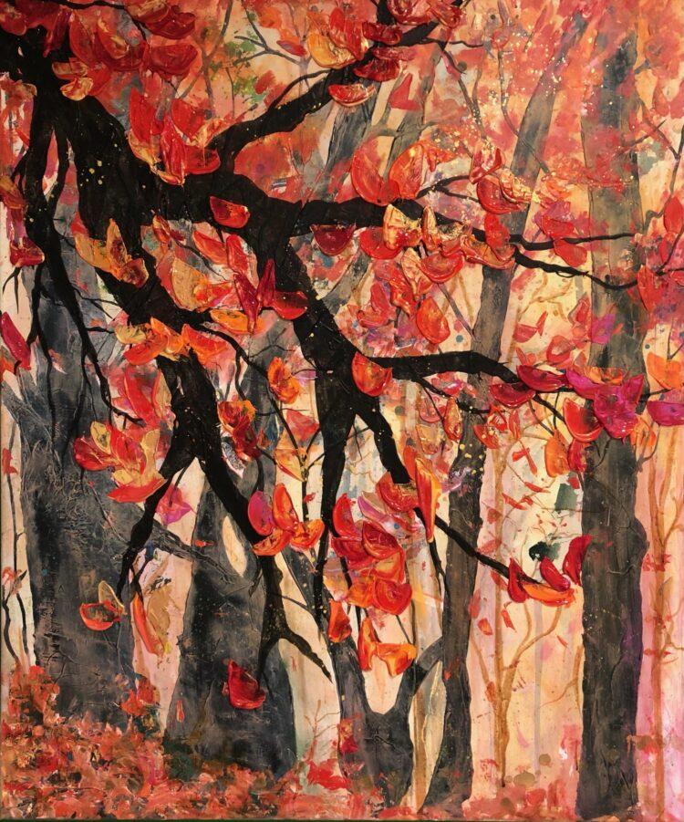 """Schilderij """"Bonte Boel"""" van Anneke Swanink"""