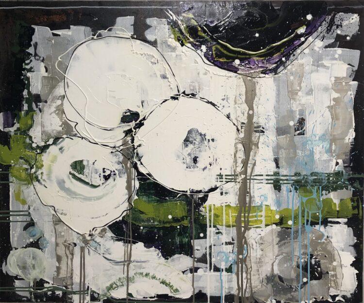 """Schilderij """"Sneeuwbloem"""" van Anneke Swanink"""