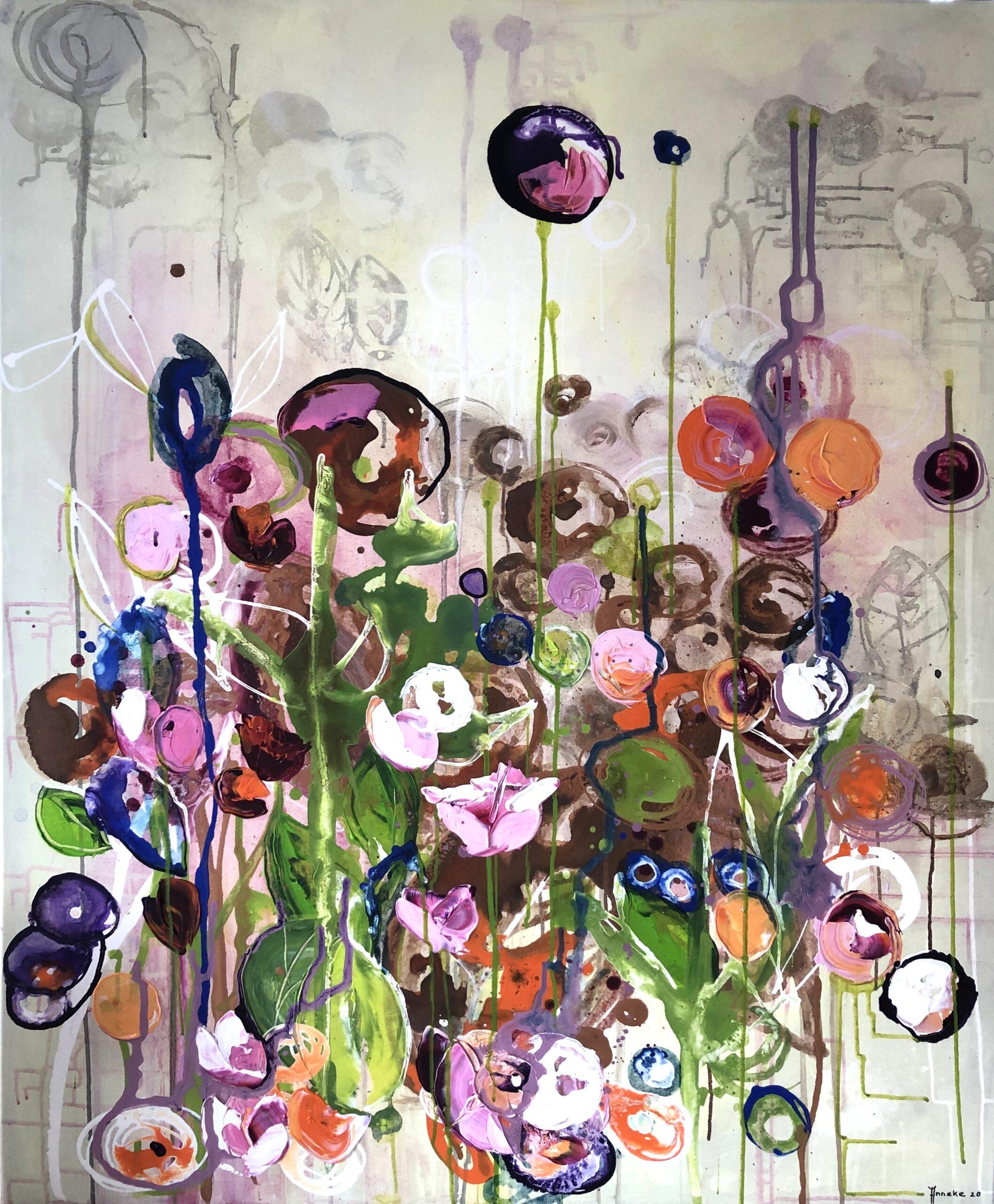 Schilderij Uitlopers van Anneke Swanink
