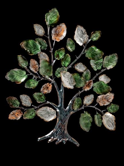 "Metalen wanddecoratie ""Joyful Tree"""