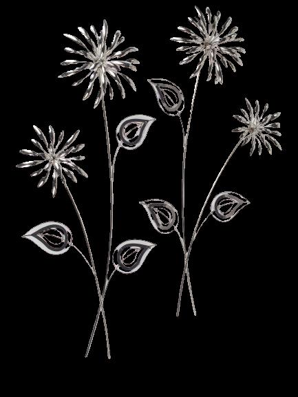"""Metalen wanddecoratie """"Flowers of the Sun"""""""