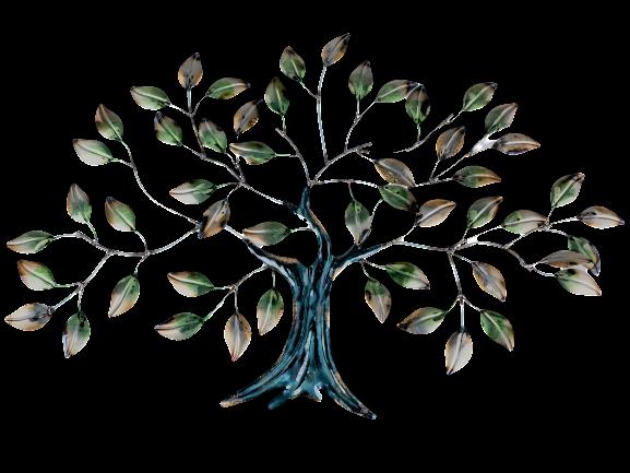 "Metalen wanddecoratie ""Life through the Leaves"""
