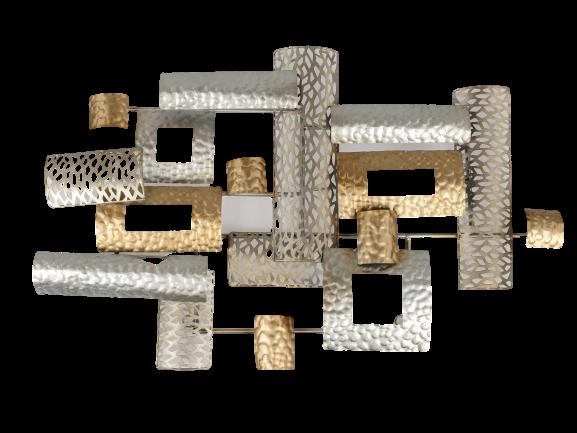 """Metalen wanddecoratie """"Rectangles in Element"""""""