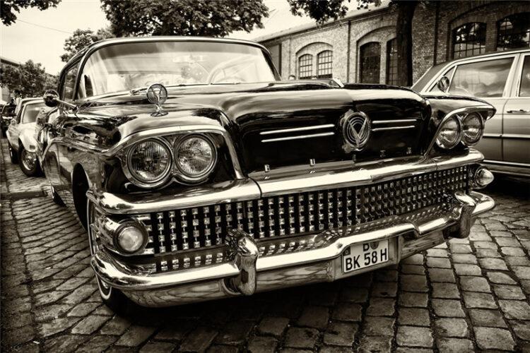 """Glasschilderij """"Classic American car"""""""