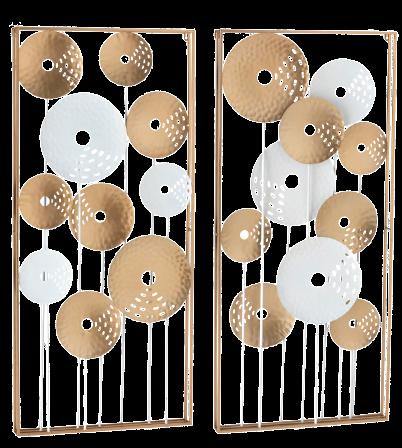 """Metalen wanddecoratie """"Dandelions"""""""