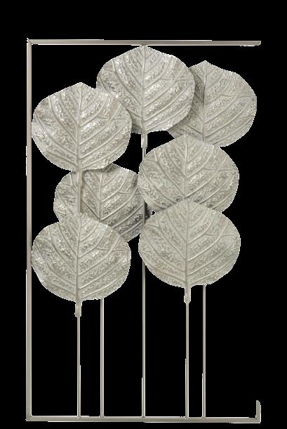Metalen wanddecoratie Fan Leaves
