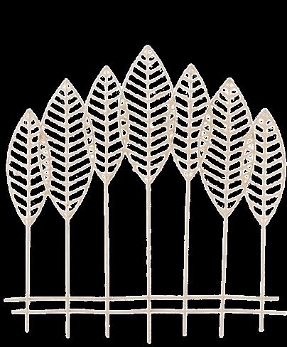 Metalen wanddecoratie Naked Leaves