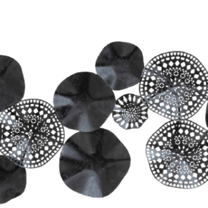 "Metalen wanddecoratie ""Night Circles"""