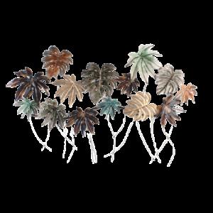 "Metalen wanddecoratie ""Paradise Leaves"""