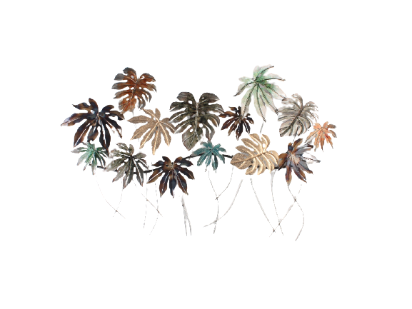 Metalen wanddecoratie Paradise Leaves