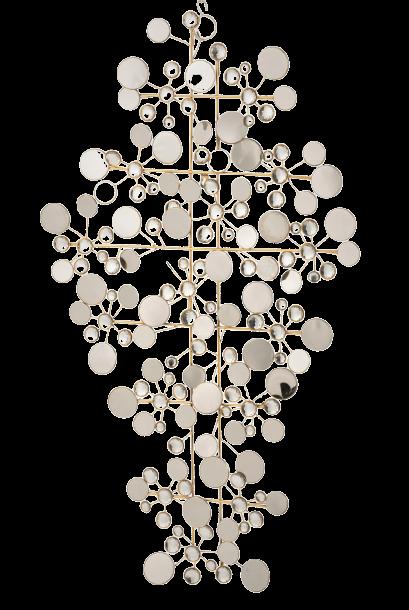 "Metalen wanddecoratie ""Reflection in Circles"""