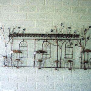 "Metalen wanddecoratie ""Terrace Fun"""