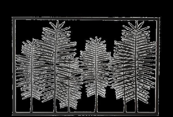 "Metalen wanddecoratie ""Thin Leaves"""