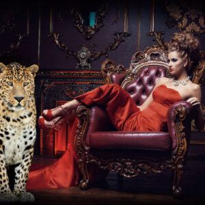 """Glasschilderij """"Looks like a Cheetah"""""""