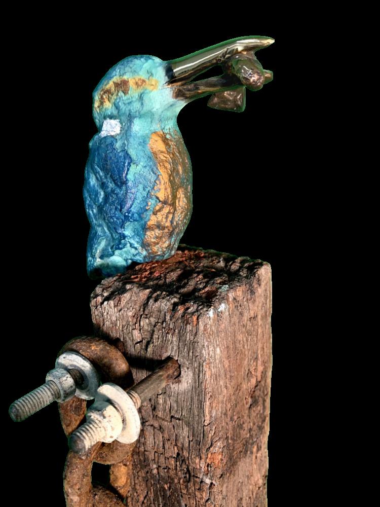 Bronzen ijsvogel (XL) los