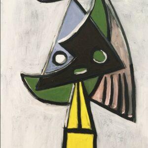 "Aluminium schilderij ""Abstract Face in Nature"" van MondiArt"