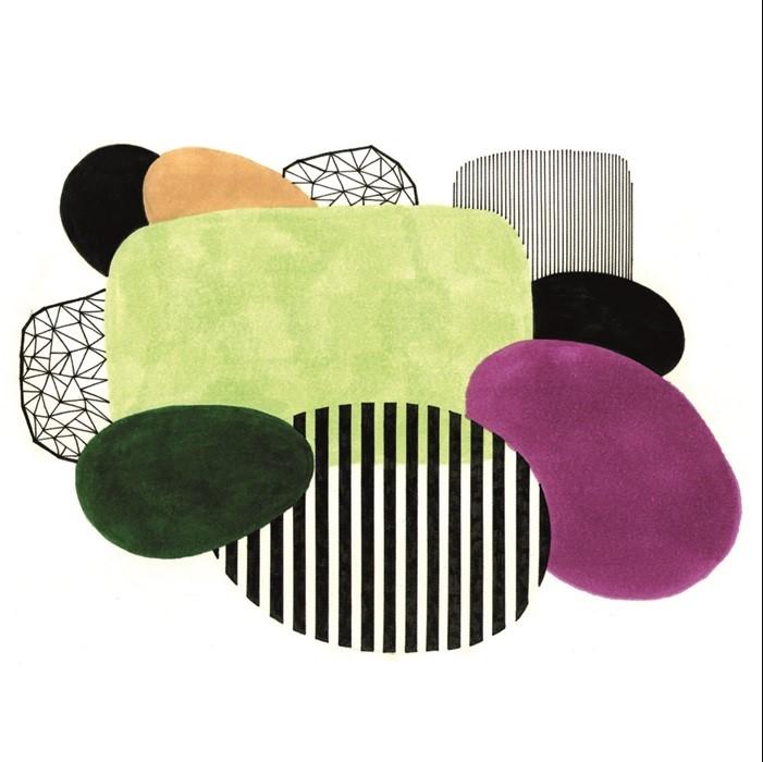 "Aluminium schilderij ""Different Shapes and Patterns"" van MondiArt"