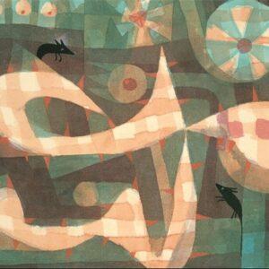 """Aluminium schilderij """"The Barbed Noose with the Mice"""" van MondiArt"""