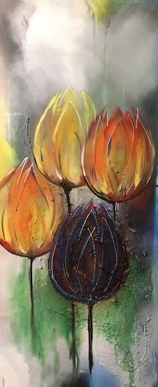 4 Tulpen