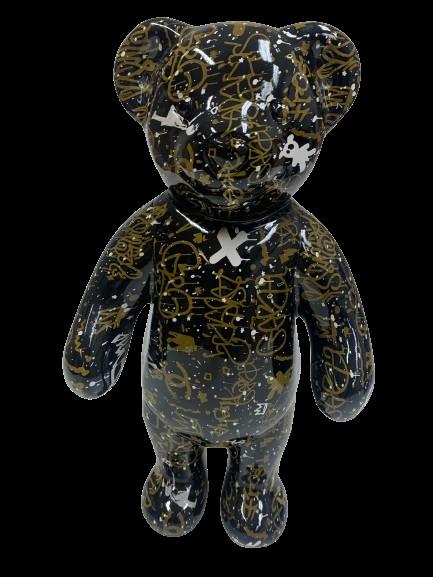 "Beeld ""Street art Teddy"""