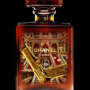 """Glasschilderij """"Chanel Paris Number 5"""""""