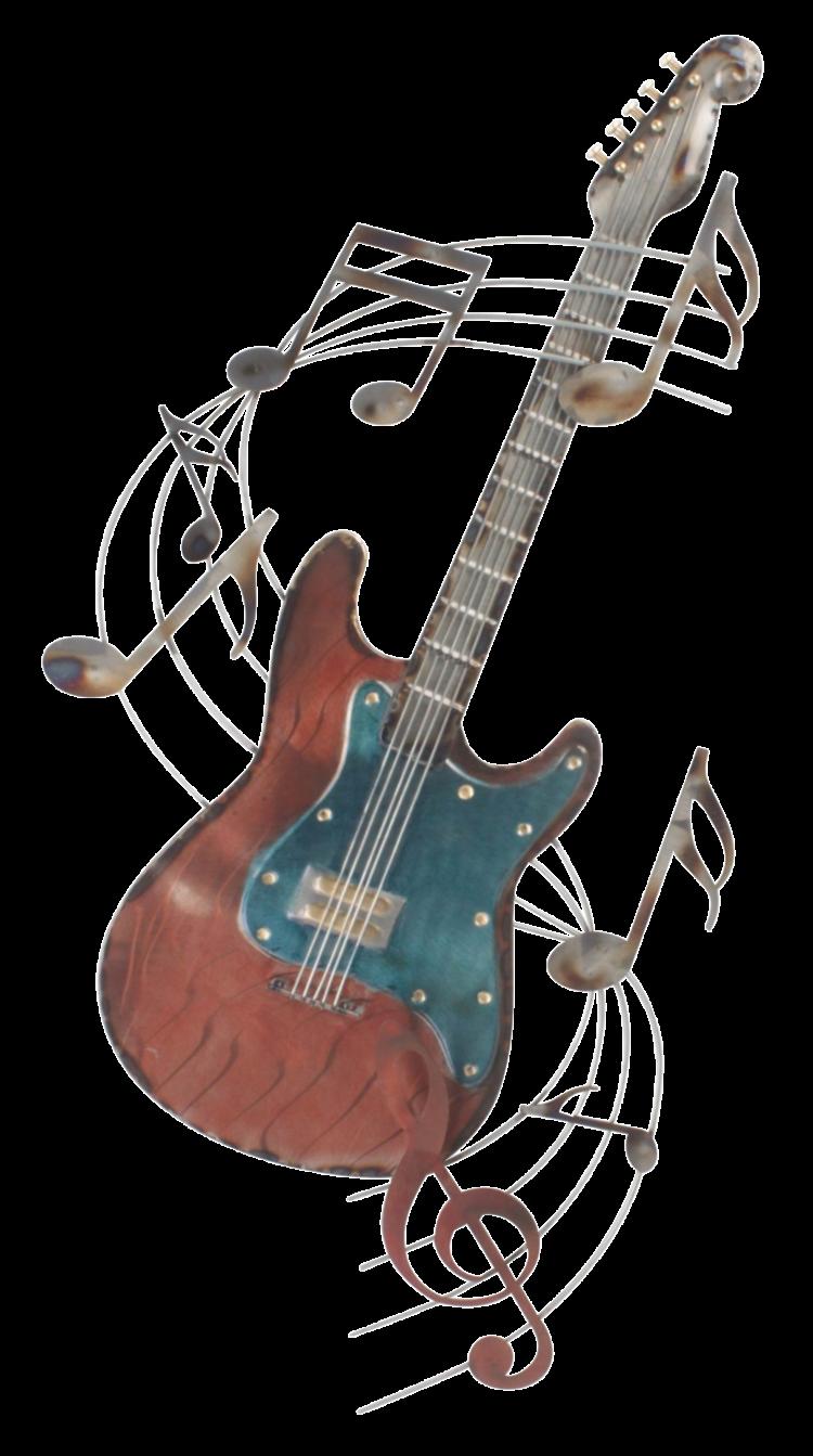 """Metalen wanddecoratie """"Electric guitar"""""""